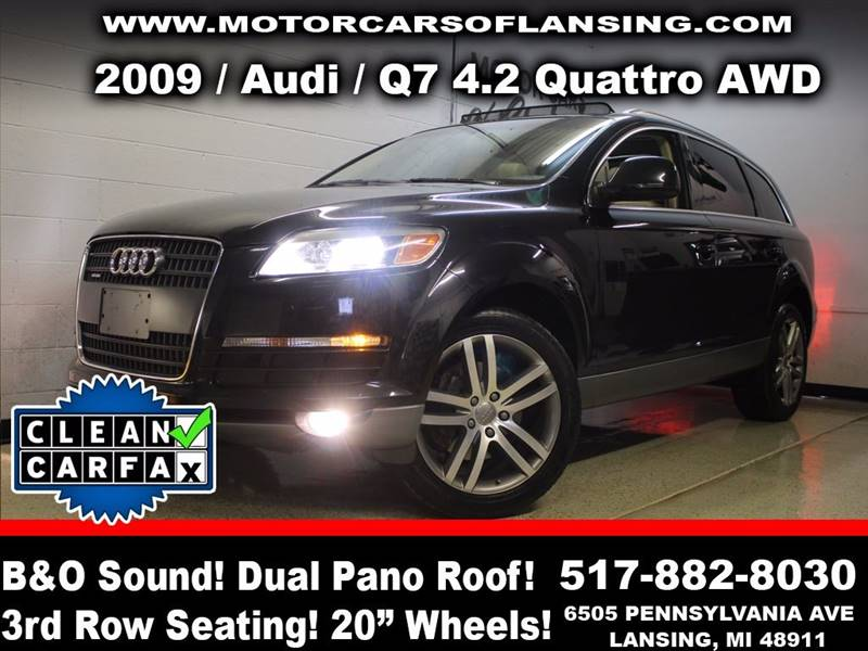 2009 AUDI Q7 42 QUATTRO AWD 4DR SUV phantom black pearl effect prestige jam packed with options