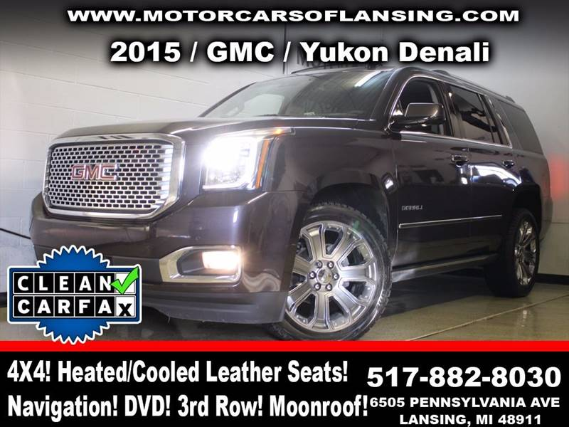 2015 GMC YUKON DENALI 4X4 4DR SUV pewter power running boards loaded rather youre on or off ro