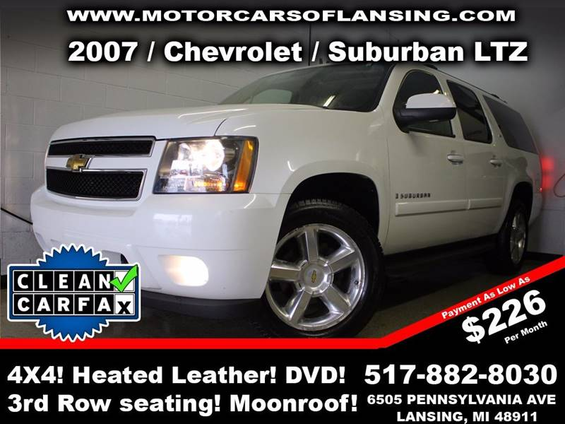 2007 CHEVROLET SUBURBAN LTZ 1500 4DR SUV 4WD white rather youre on or off road this vehicle is