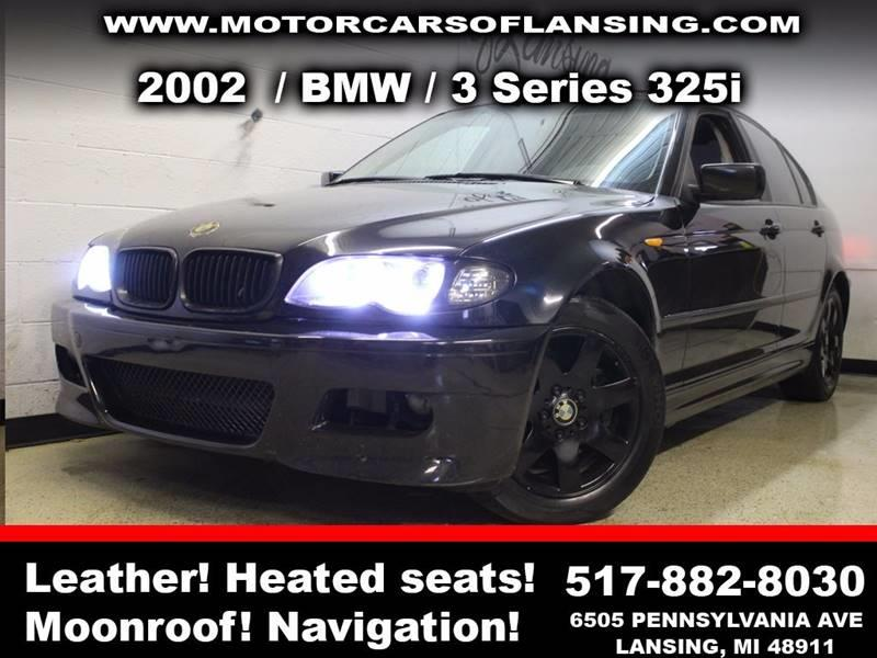 2002 BMW 3 SERIES 325I 4DR SEDAN black sunroof leather wow this vehicle is loaded   all custom