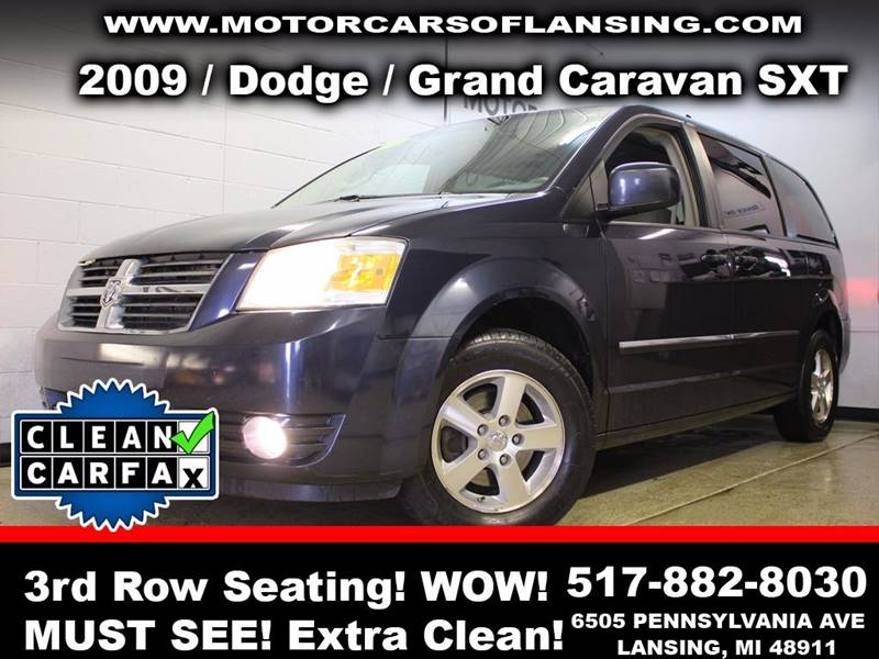 2009 DODGE GRAND CARAVAN SXT MINI VAN 4DR blue room for the whole family with 3rd row seating