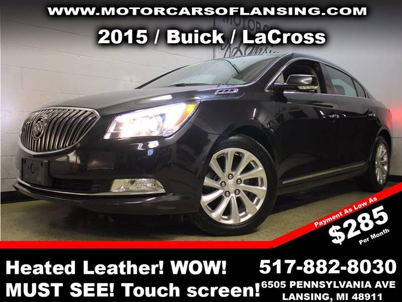 2015 BUICK LACROSSE LEATHER 4DR SEDAN black never back into anything again this vehicle is equip
