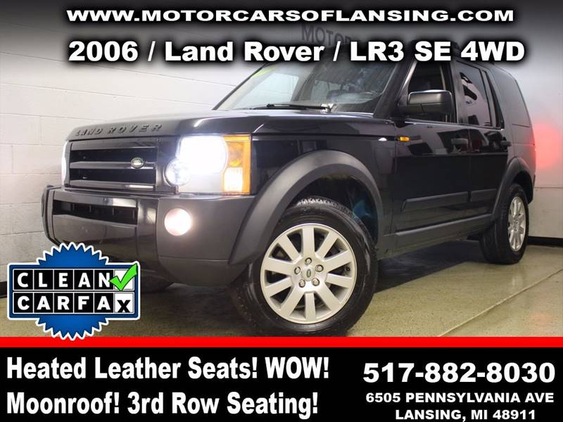 2006 LAND ROVER LR3 SE 4WD 4DR SUV black rather youre on or off road this vehicle is ready to c