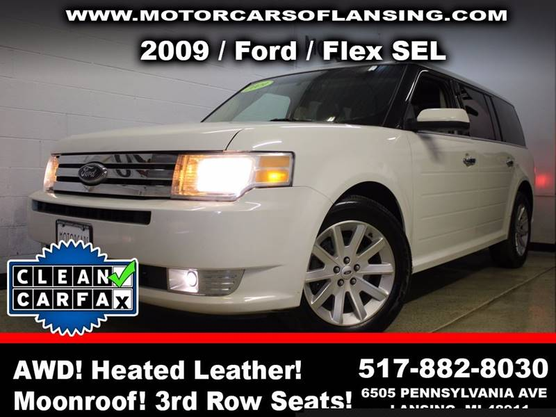 2009 FORD FLEX SEL AWD CROSSOVER 4DR white this vehicle is ready for the michigan winters with it