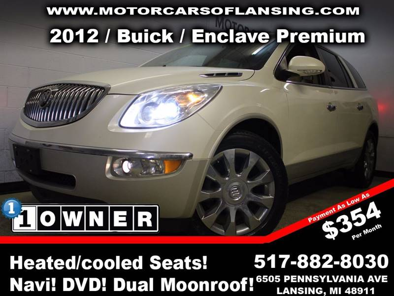 2012 BUICK ENCLAVE PREMIUM AWD 4DR SUV pearl this vehicle is ready for the michigan winters with