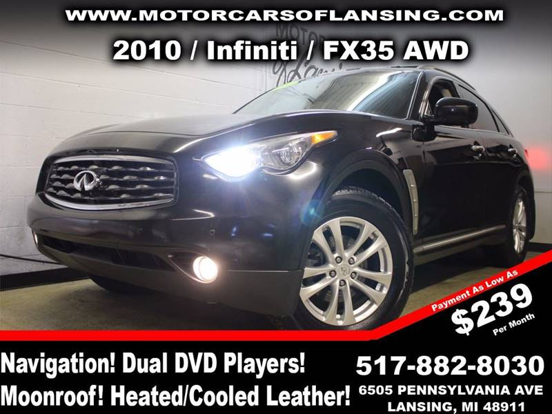 2010 INFINITI FX35 BASE AWD 4DR SUV black this vehicle is ready for the michigan winters with its