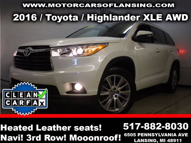 2016 TOYOTA HIGHLANDER XLE AWD 4DR SUV white this vehicle is ready for the michigan winters with