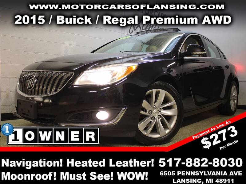 2015 BUICK REGAL PREMIUM I AWD 4DR SEDAN black this vehicle is ready for the michigan winters wit