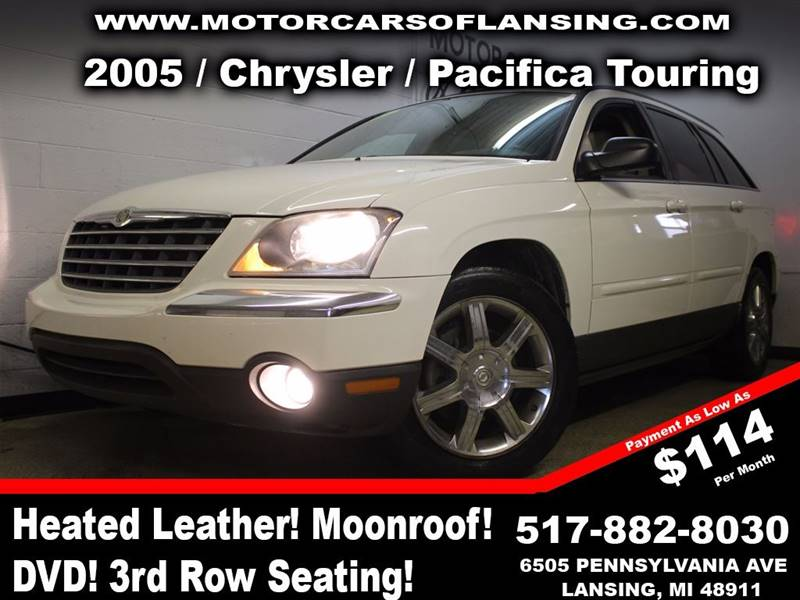 2005 CHRYSLER PACIFICA TOURING 4DR WAGON white room for the whole family with 3rd row seating