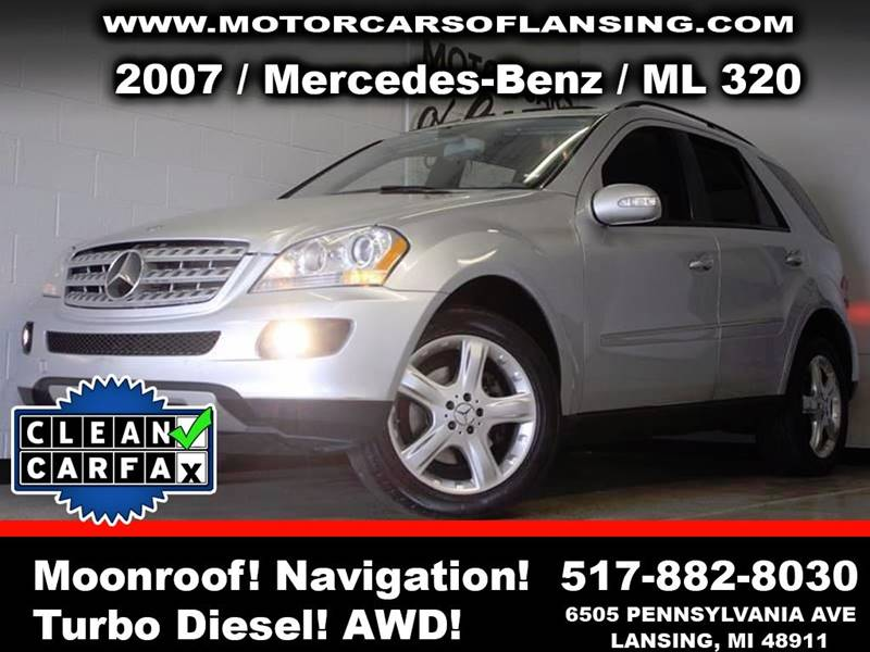 2007 MERCEDES-BENZ M-CLASS ML 320 CDI AWD 4MATIC 4DR SUV silver suede awd 30l v6 turbo diesel