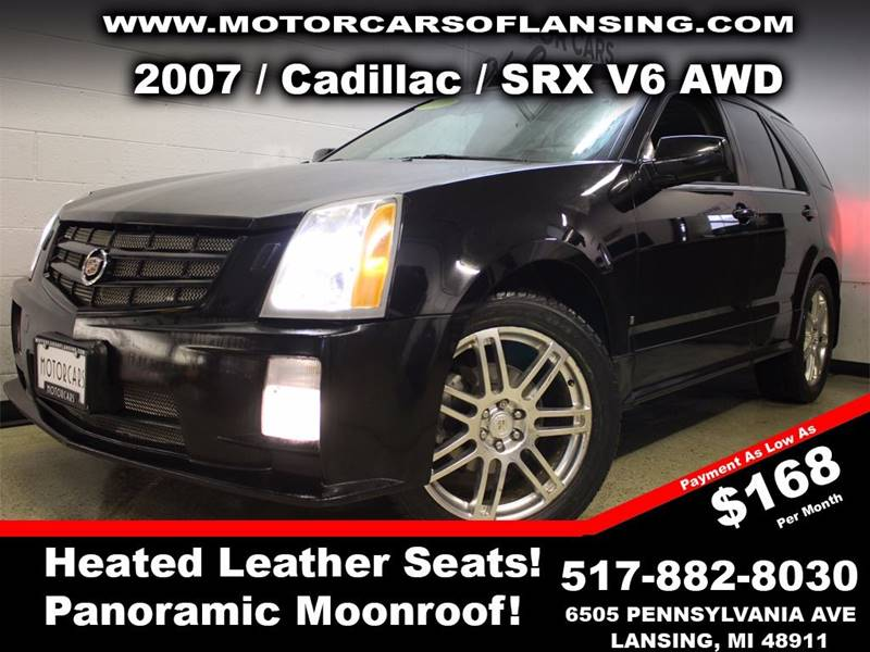 2007 CADILLAC SRX V6 AWD 4DR SUV  36 6CYL 5A  black this vehicle is ready for the michigan win