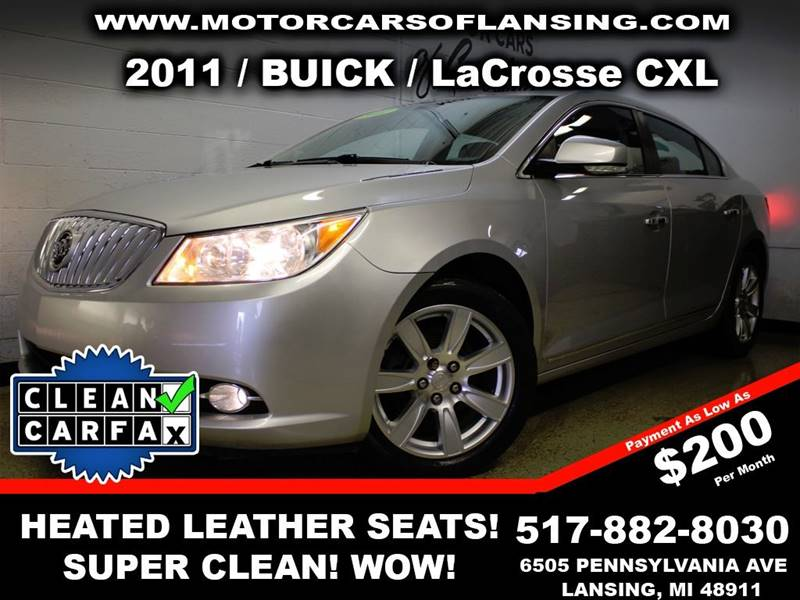 2011 BUICK LACROSSE CXL 4DR SEDAN silver drive comfortably this winter with heated leather seats