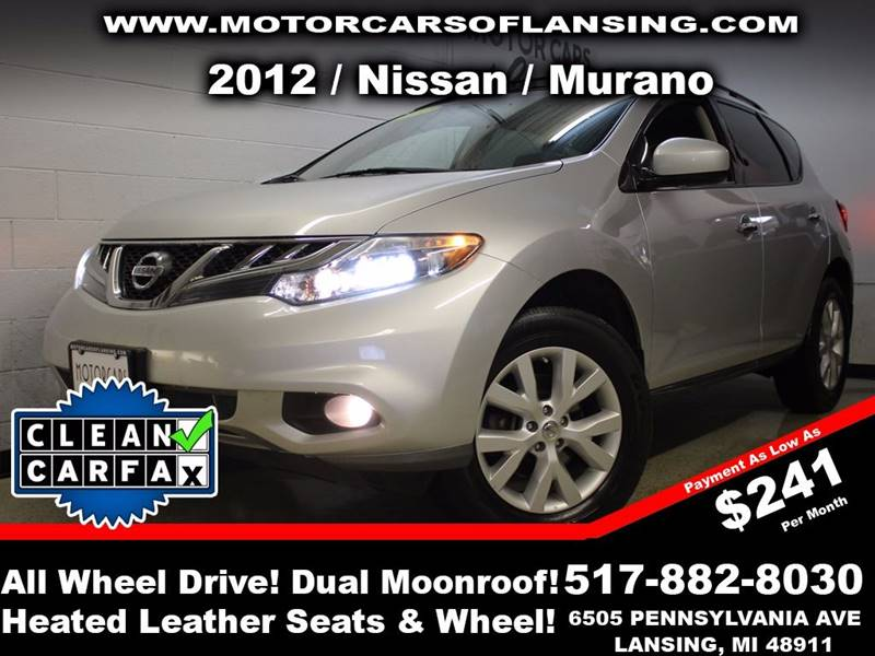 2012 NISSAN MURANO SL AWD 4DR SUV silver this vehicle is ready for the michigan winters with its