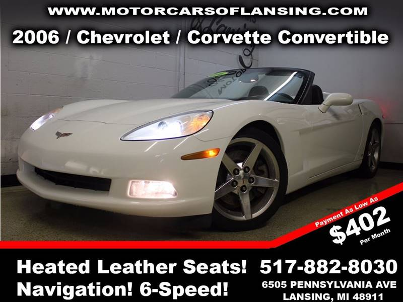 2006 CHEVROLET CORVETTE BASE 2DR CONVERTIBLE white drive comfortably this winter with heated leat
