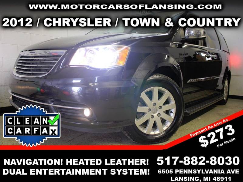 2012 CHRYSLER TOWN AND COUNTRY LIMITED 4DR MINI VAN black drive comfortably this winter with heate