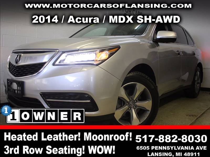 2014 ACURA MDX SH AWD 4DR SUV silver this vehicle is ready for the michigan winters with its all