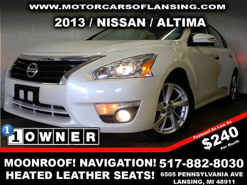 2013 NISSAN ALTIMA 25 SL 4DR SEDAN white drive comfortably this winter with heated leather seats