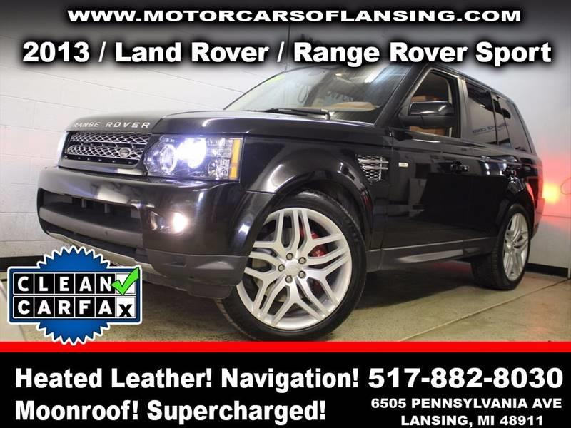 2013 LAND ROVER RANGE ROVER SPORT SUPERCHARGED 4X4 4DR SUV black rather youre on or off road thi