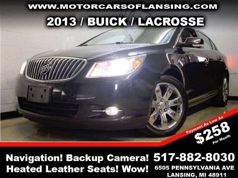 2013 BUICK LACROSSE PREMIUM 2 4DR SEDAN black never back into anything again this vehicle is equ