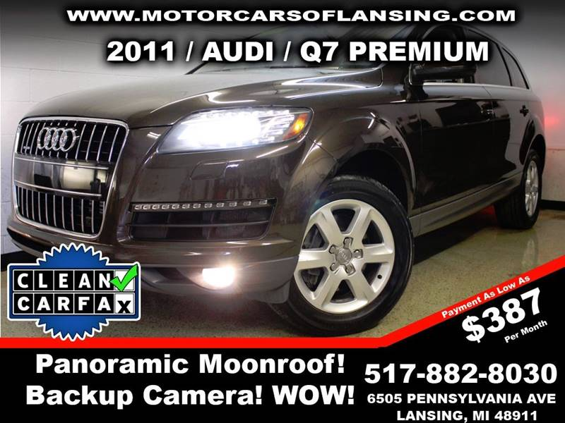 2011 AUDI Q7 30T QUATTRO PREMIUM AWD 4DR SUV brown this vehicle is ready for the michigan winter
