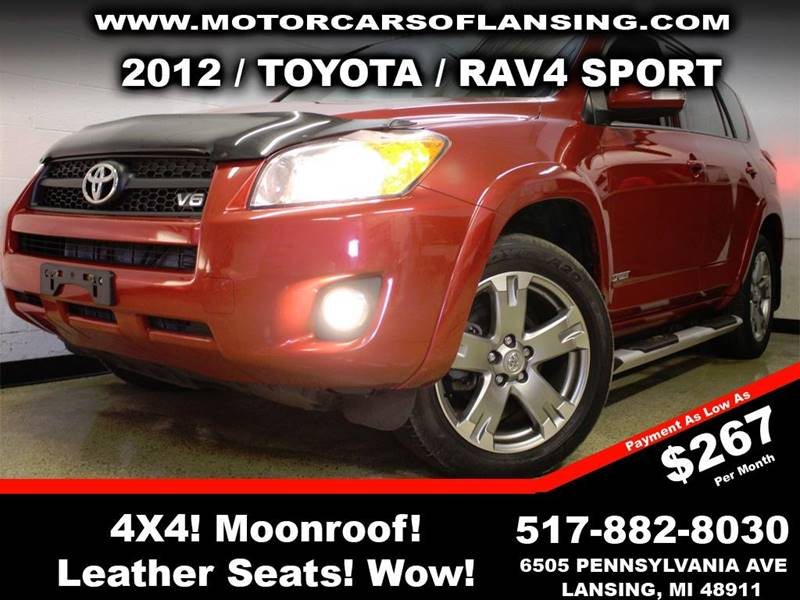 2012 TOYOTA RAV4 SPORT 4X4 4DR SUV V6 red rather youre on or off road this vehicle is ready to