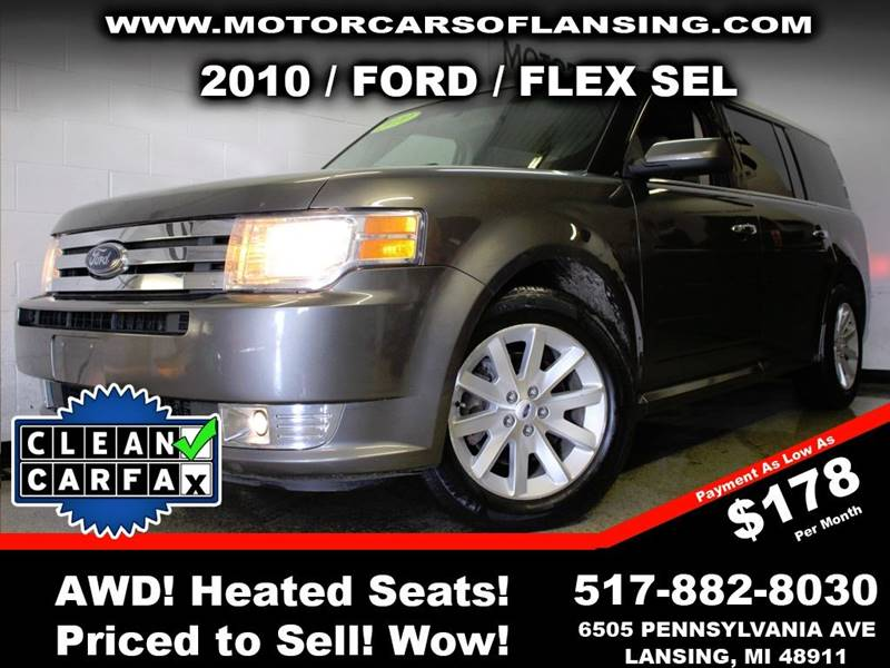 2010 FORD FLEX SEL AWD 4DR CROSSOVER gray this vehicle is ready for the michigan winters with its
