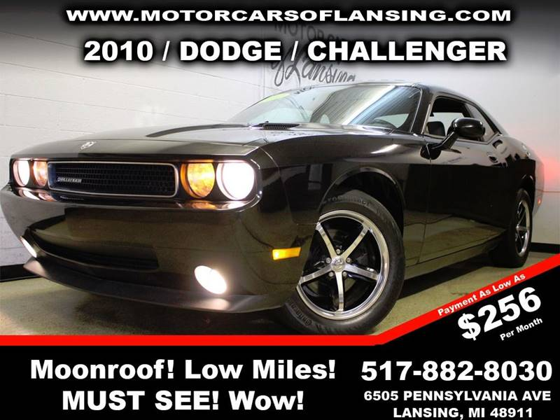 2010 DODGE CHALLENGER SE 2DR COUPE black here at motorcars all of our vehicles undergo a rigorou