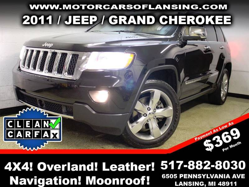 2011 JEEP GRAND CHEROKEE OVERLAND 4X4 4DR SUV black rather youre on or off road this vehicle is