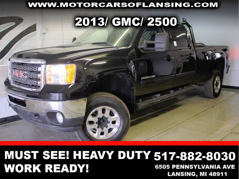 2013 GMC SIERRA 2500HD SLT 4X4 4DR CREW CAB LB black be sure to check back soon for details on th