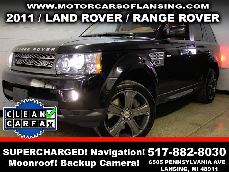 2011 LAND ROVER RANGE ROVER SPORT SUPERCHARGED 4X4 4DR SUV black rather youre on or off road thi