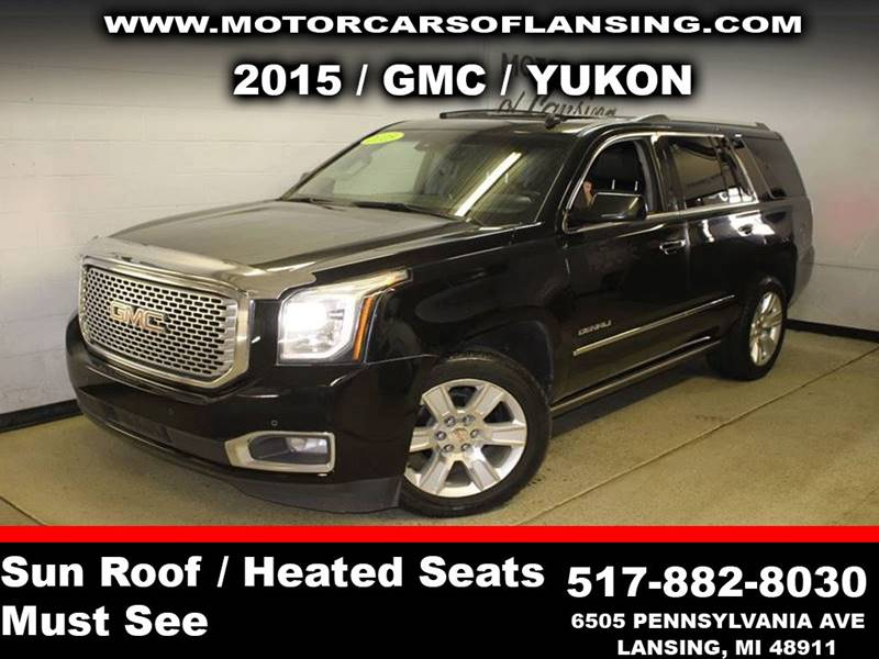 2015 GMC YUKON DENALI 4X4 4DR SUV black be sure to check back soon for details on this vehicle m