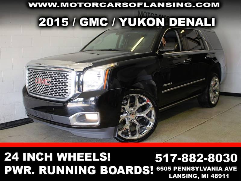 2015 GMC YUKON DENALI 4X4 4DR SUV black 24in factory wheelsbe sure to check back soon for detail