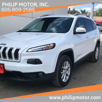 2017 Jeep Cherokee for sale at Philip Motor Inc in Philip SD