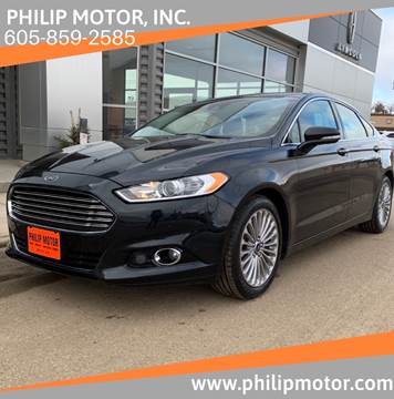 2014 Ford Fusion for sale at Philip Motor Inc in Philip SD