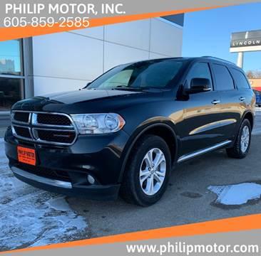 2013 Dodge Durango for sale at Philip Motor Inc in Philip SD