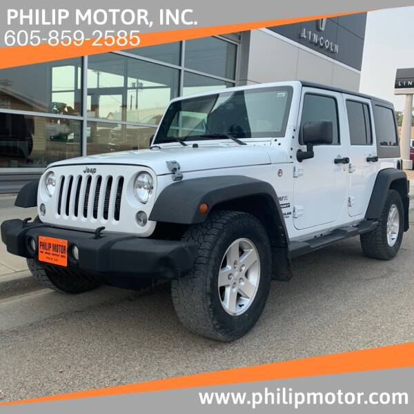 2016 Jeep Wrangler Unlimited for sale at Philip Motor Inc in Philip SD