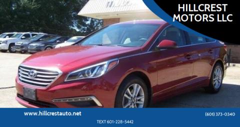 2015 Hyundai Sonata for sale at HILLCREST MOTORS LLC in Byram MS