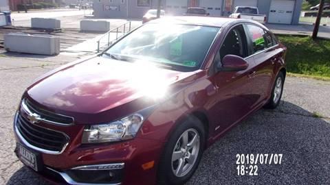 2015 Chevrolet Cruze for sale in Pennsboro, WV