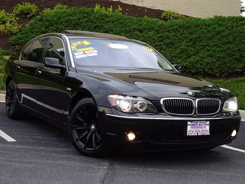 2007 BMW 7 Series For Sale At Power Motors In Halethorpe MD