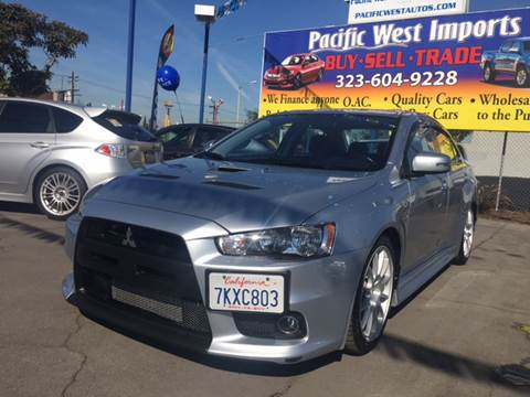 2015 Mitsubishi Lancer Evolution for sale at Pacific West Imports in Los Angeles CA