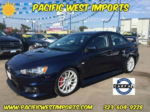 2013 Mitsubishi Lancer Evolution for sale at Pacific West Imports in Los Angeles CA