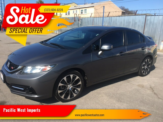 2013 honda civic si in los angeles ca pacific west imports. Black Bedroom Furniture Sets. Home Design Ideas