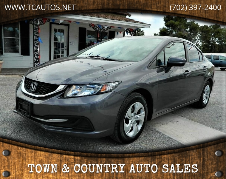 Town And Country Honda >> 2015 Honda Civic Lx 4dr Sedan Cvt In Overton Nv Town Country