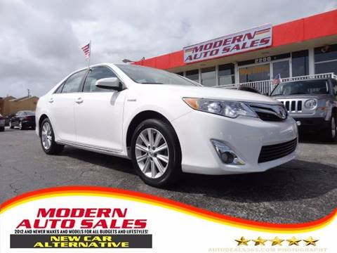 2012 Toyota Camry Hybrid for sale in Hollywood, FL