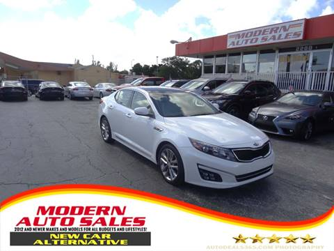 2015 Kia Optima for sale at Modern Auto Sales in Hollywood FL