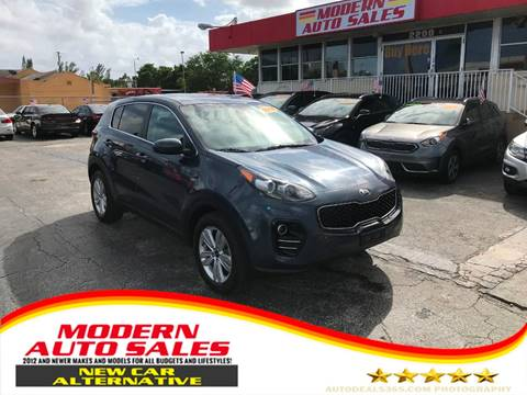 2018 Kia Sportage for sale at Modern Auto Sales in Hollywood FL