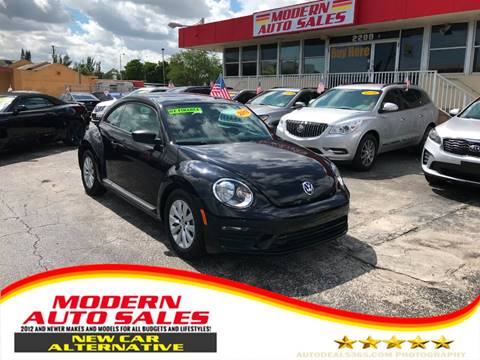 2018 Volkswagen Beetle for sale at Modern Auto Sales in Hollywood FL