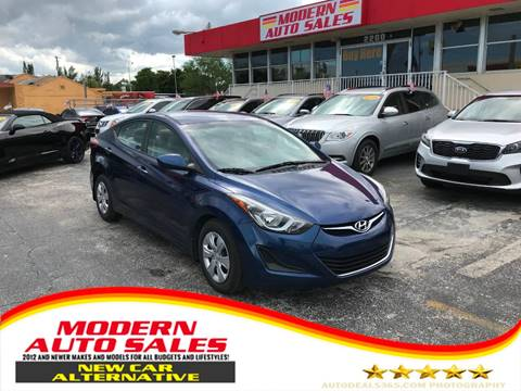 2016 Hyundai Elantra for sale at Modern Auto Sales in Hollywood FL