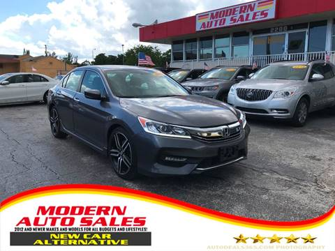 2017 Honda Accord for sale at Modern Auto Sales in Hollywood FL