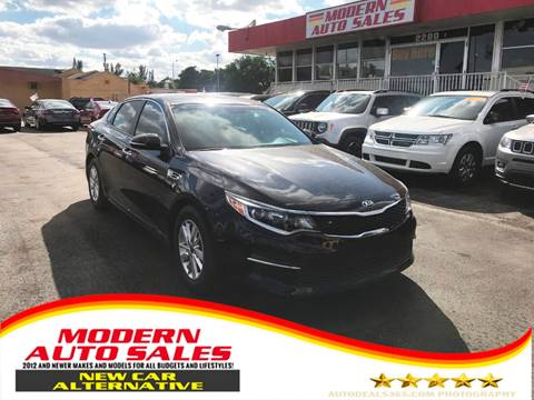 2016 Kia Optima for sale at Modern Auto Sales in Hollywood FL